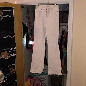 Flare leg denim jeans